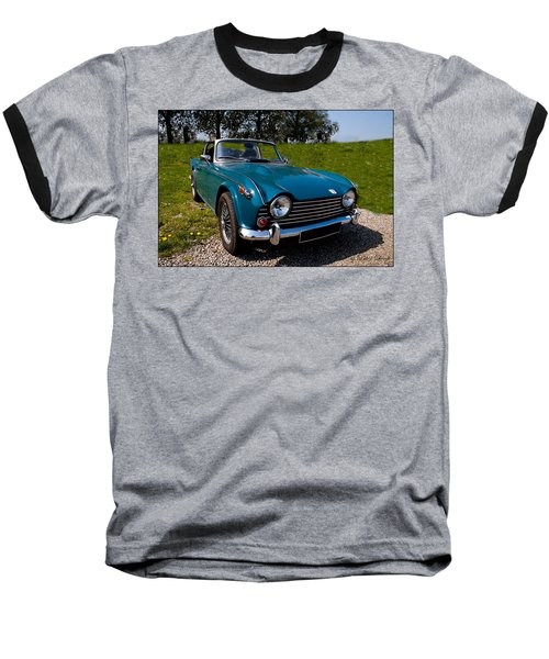Triumph Tr5 Blue Baseball T-Shirt