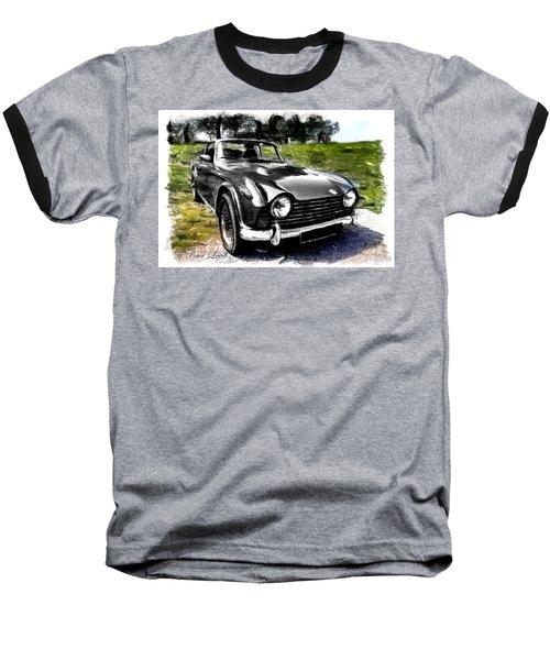 Triumph Tr5 Monochrome With Brushstrokes Baseball T-Shirt