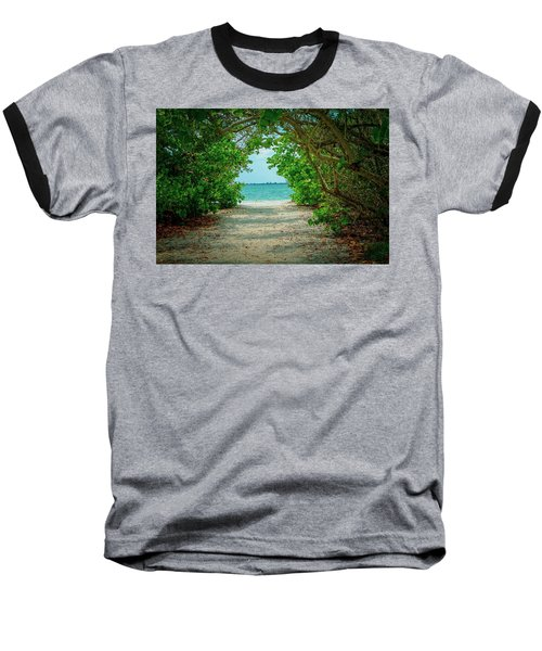 Tropical Paradise Baseball T-Shirt