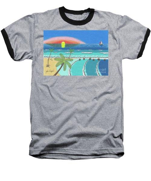 Tropical Sunrise Baseball T-Shirt