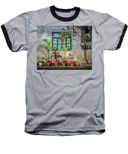 Baseball T-Shirt featuring the photograph Tropical Wall by Michael Arend