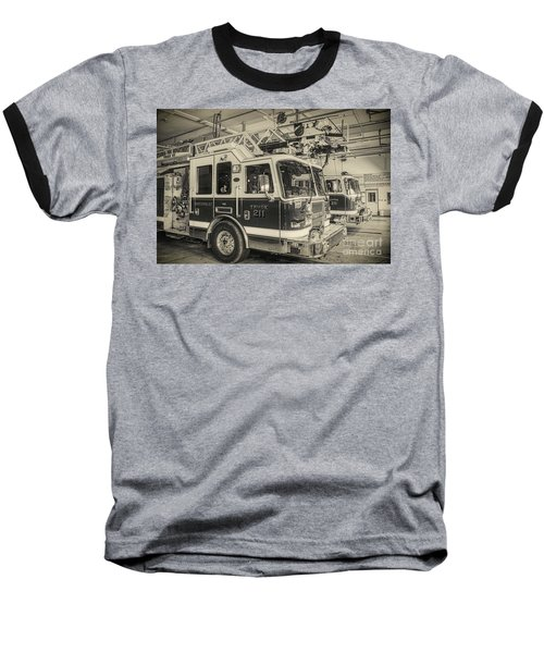 Truck And Engine 211 Baseball T-Shirt