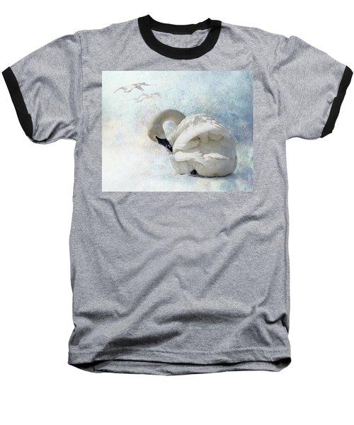 Trumpeter Textures #2 - Swan Preening Baseball T-Shirt