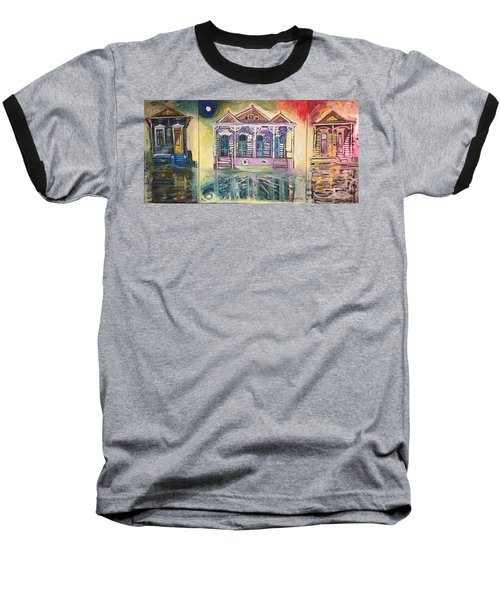 Tryptic On The Bayou New Orleans Baseball T-Shirt