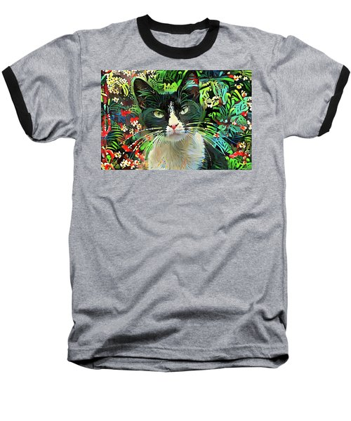 Tucker The Tuxedo Cat Baseball T-Shirt