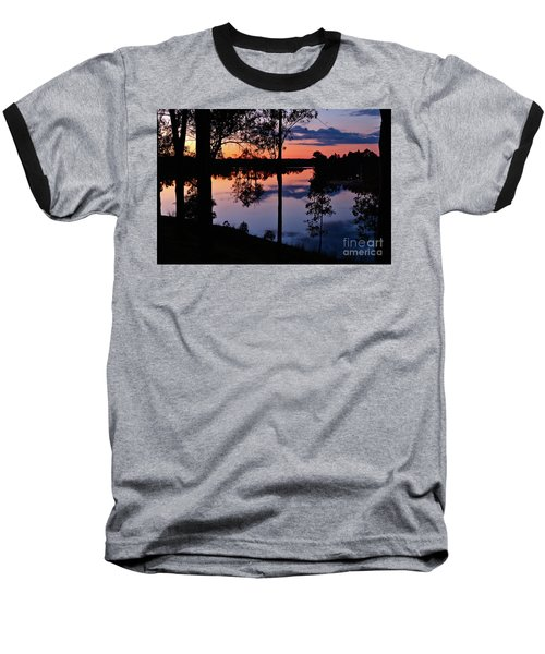 Twilight By The Lake Baseball T-Shirt