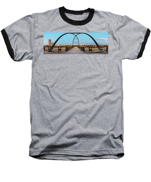 Twilight Panorama Of Bill Coats Bridge Over Brays Bayou - City Of Houston Texas Medical Center Baseball T-Shirt