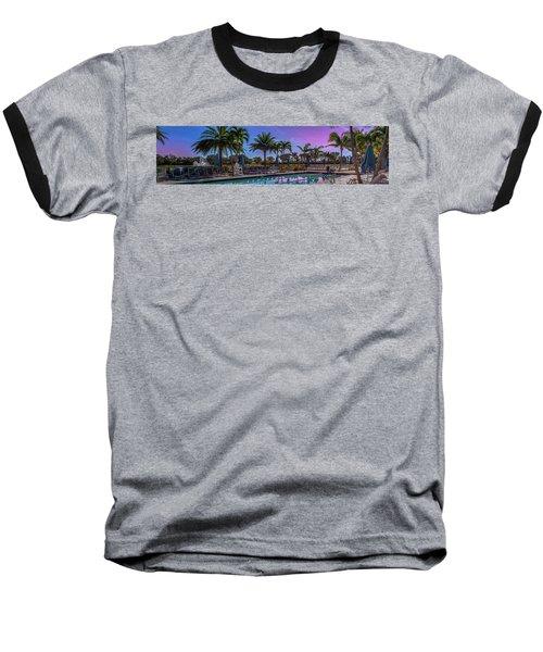Twilight Pool Baseball T-Shirt