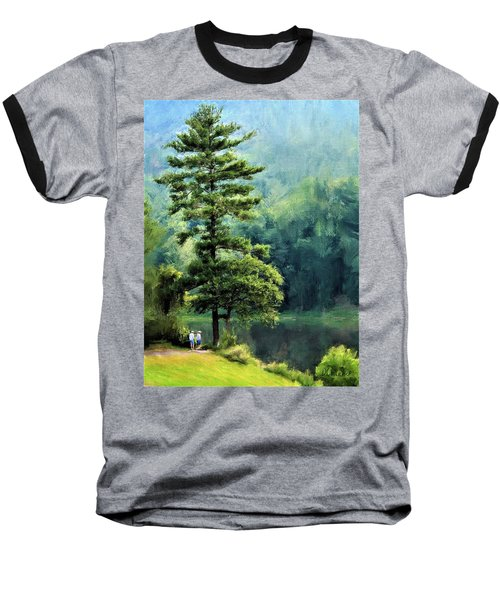 Two Guys And A Pond Baseball T-Shirt
