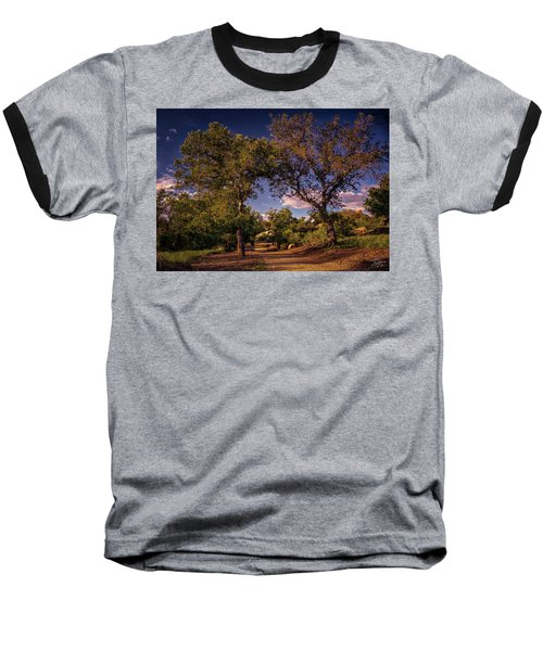 Two Old Oak Trees At Sunset Baseball T-Shirt