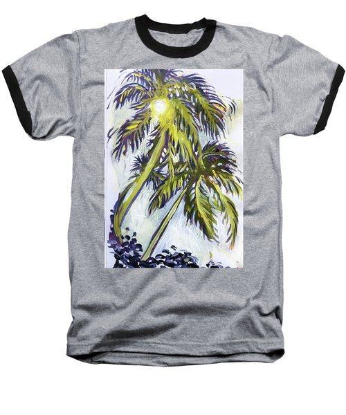 Two Palm Sketch Baseball T-Shirt