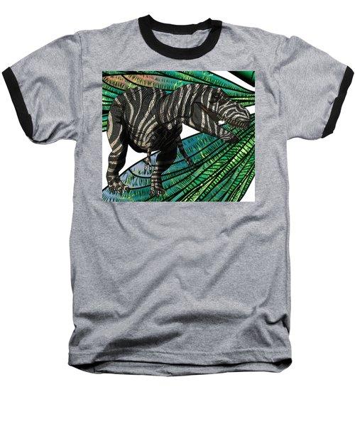 Tyrannosaurus Takes Wings Baseball T-Shirt