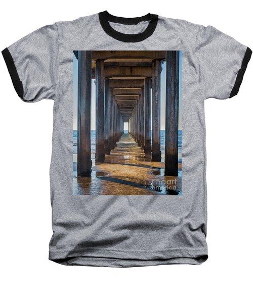 Under Scripps Pier Baseball T-Shirt