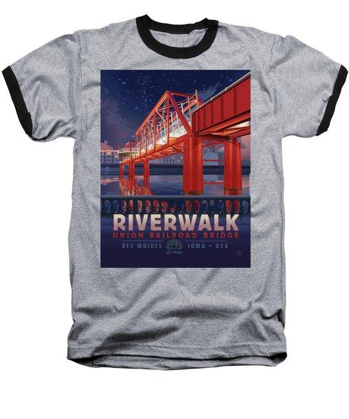 Union Railroad Bridge - Riverwalk Baseball T-Shirt
