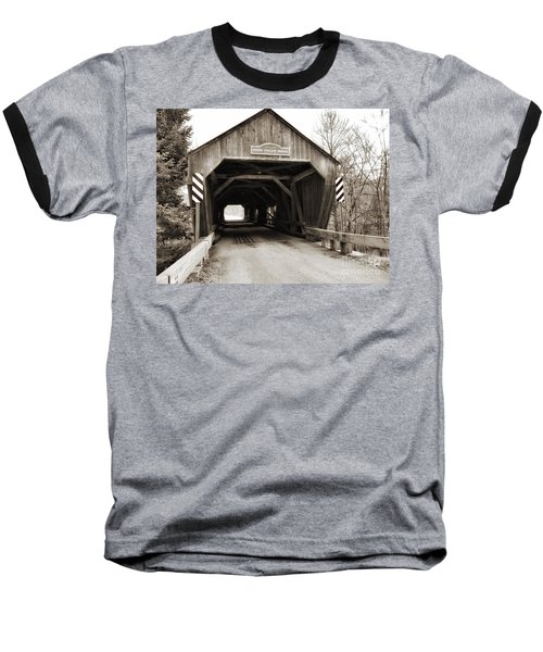 Union Village Covered Bridge Baseball T-Shirt
