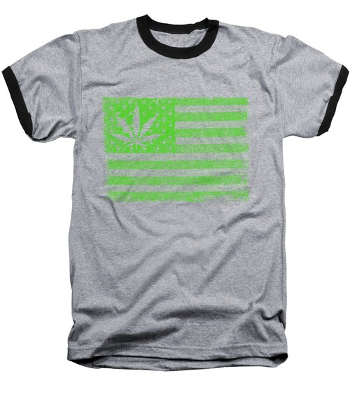 United States Of Cannabis Baseball T-Shirt
