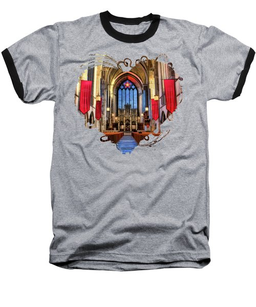 University Of Chicago Rockefeller Chapel Baseball T-Shirt