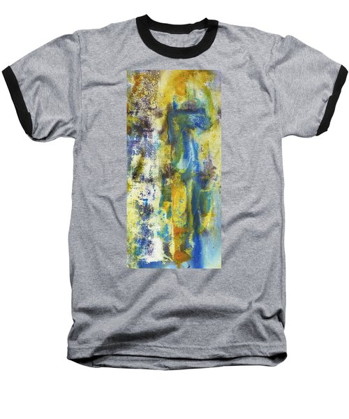 Baseball T-Shirt featuring the painting Untitled3 by 'REA' Gallery