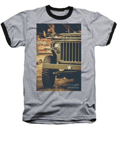 Us Army Jeep World War II Baseball T-Shirt