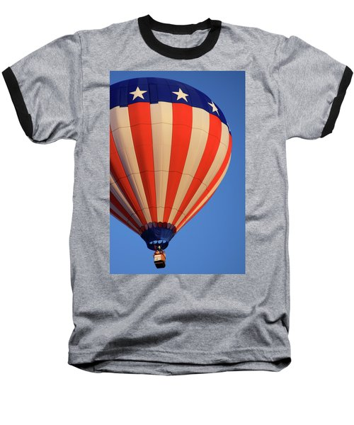 Usa Patriotic Hot Air Balloon Baseball T-Shirt