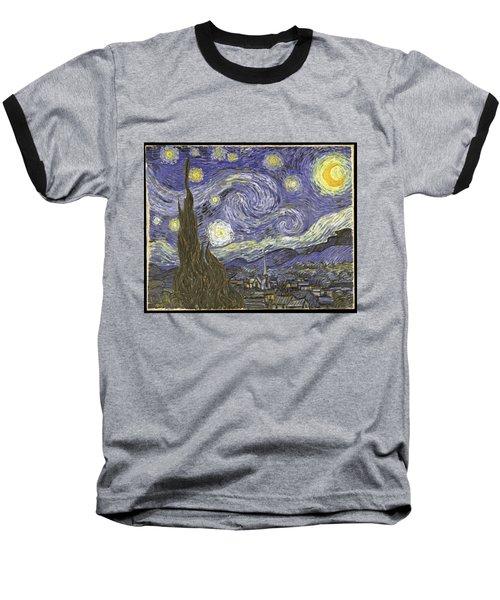 Van Goh Starry Night Baseball T-Shirt
