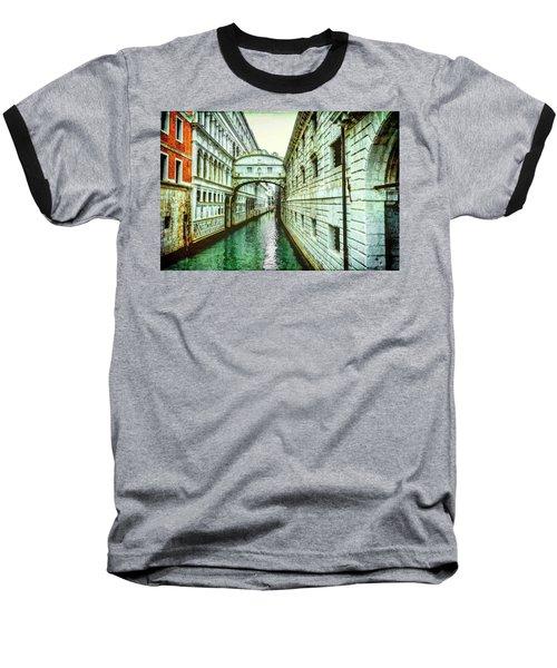 Venice Bridge Of Sighs Baseball T-Shirt