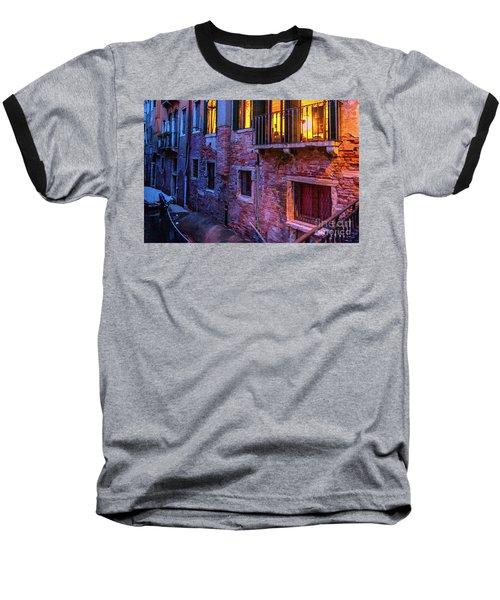 Venice Windows At Night Baseball T-Shirt