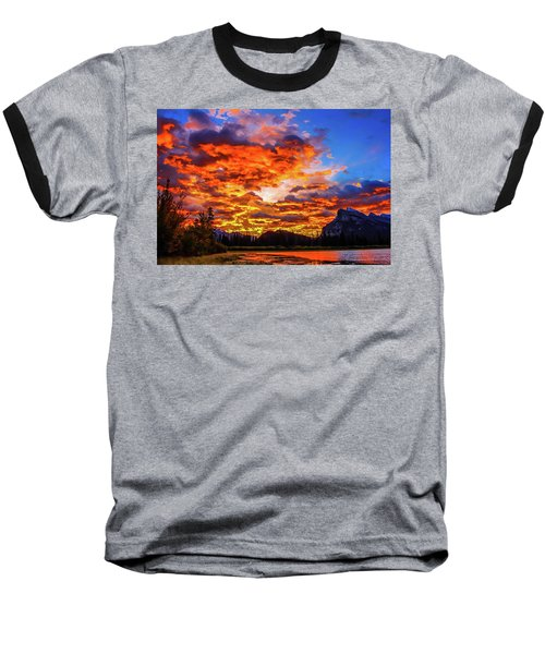 Vermillion Lakes, Banff National Park, Alberta, Canada Baseball T-Shirt