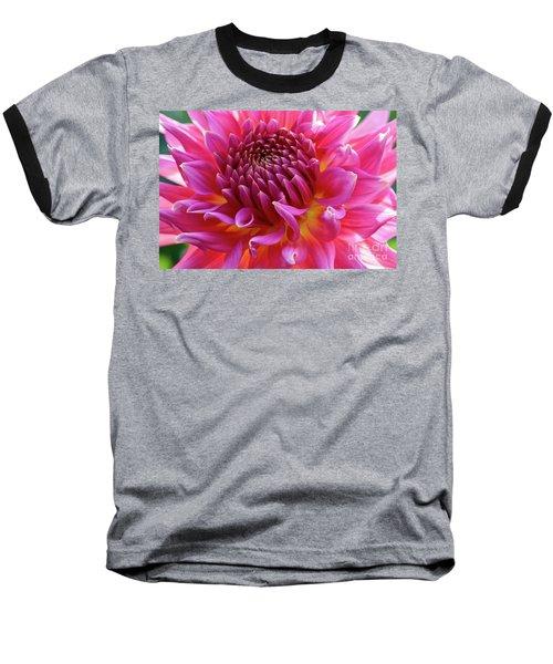 Vibrant Dahlia Baseball T-Shirt