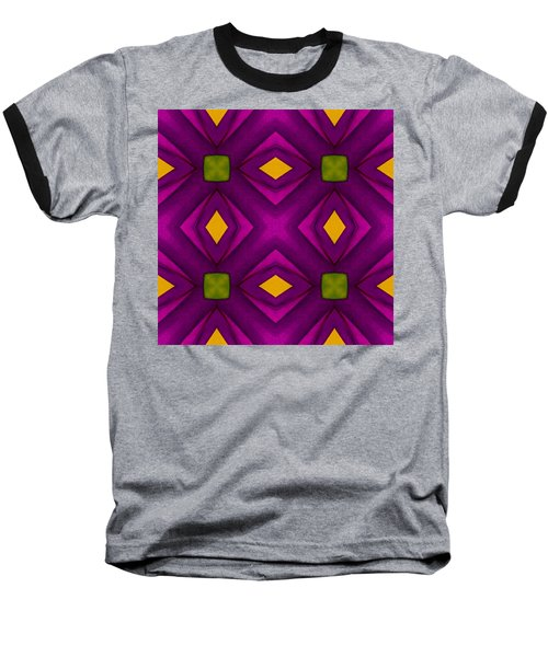 Vibrant Geometric Design Baseball T-Shirt