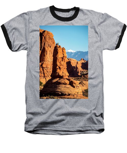 Baseball T-Shirt featuring the photograph Victory Dance by David Morefield