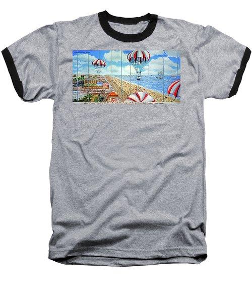 View From Parachute Jump Towel Version Baseball T-Shirt