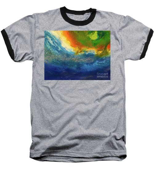 View From Space Baseball T-Shirt