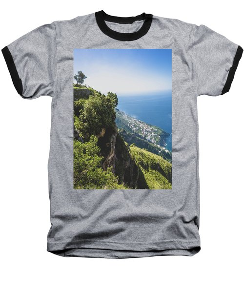 View Of Amalfi Italy From Path Of The Gods Baseball T-Shirt