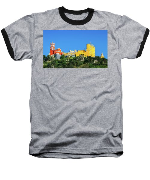 View Of Pena National Palace, Sintra, Portugal, Europe Baseball T-Shirt