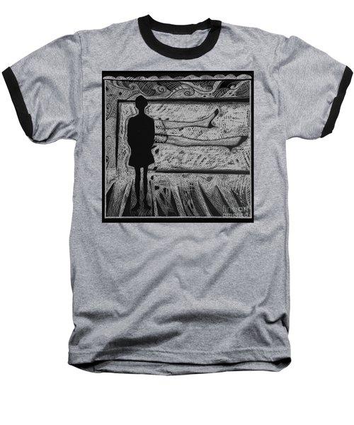 Viewing Supine Woman. Baseball T-Shirt
