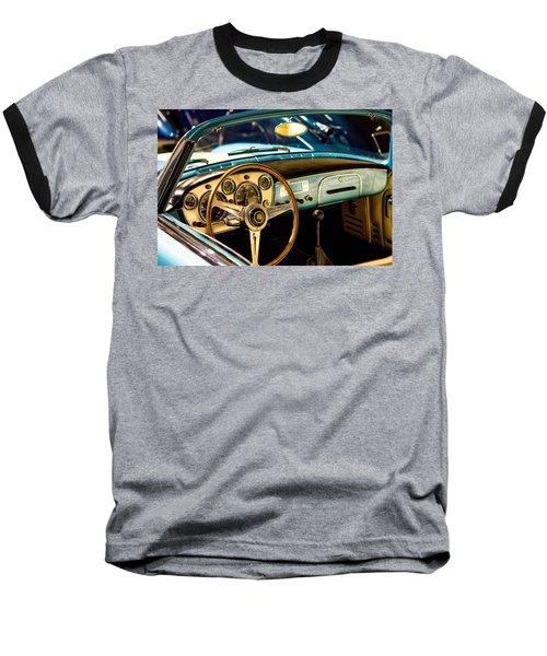 Vintage Blue Car Baseball T-Shirt