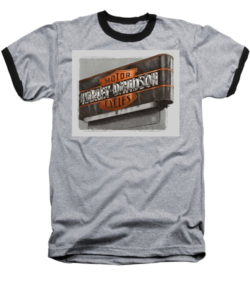 Vintage Motorcycle Shop Baseball T-Shirt