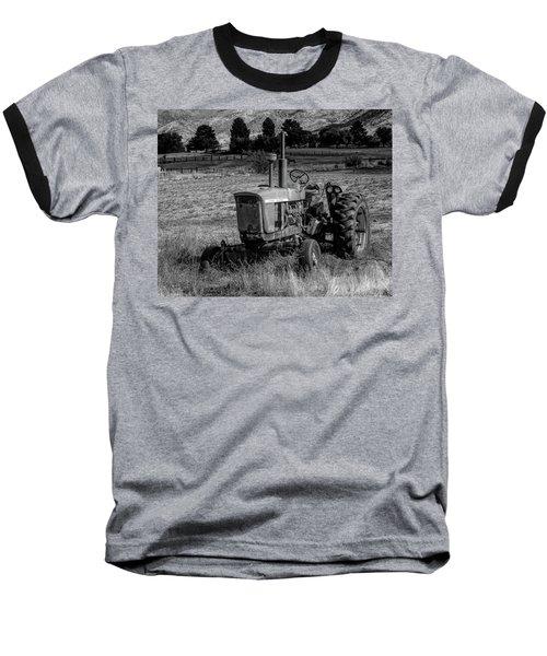 Vintage Tractor In Honeyville Bw Baseball T-Shirt