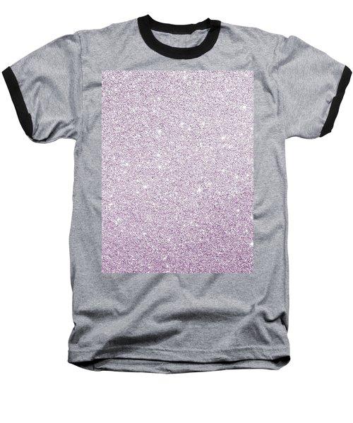 Violet Glitter Baseball T-Shirt