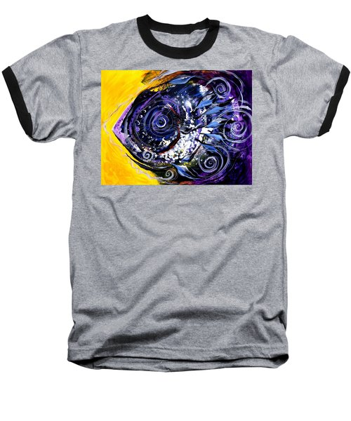 Violet Tri Fish Baseball T-Shirt