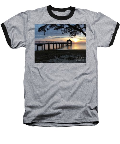 Walking Bridge To The Gazebo Baseball T-Shirt
