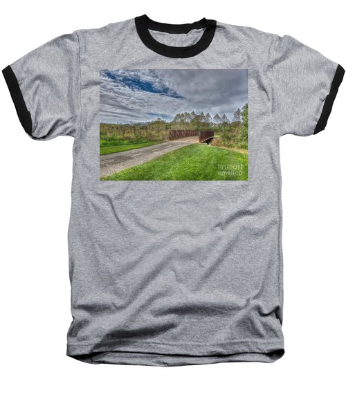 Walnut Woods Bridge - 1 Baseball T-Shirt