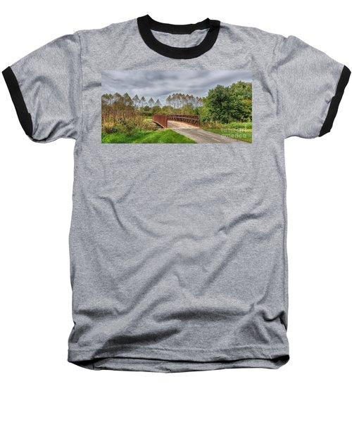 Walnut Woods Bridge - 3 Baseball T-Shirt