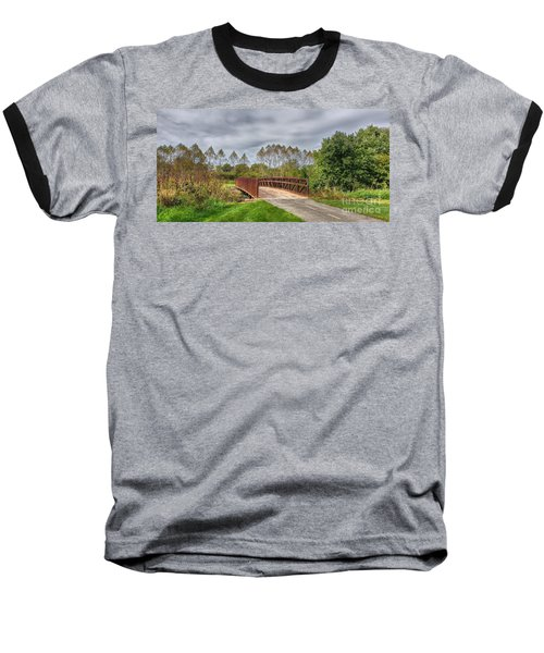 Walnut Woods Bridge - 3 Baseball T-Shirt
