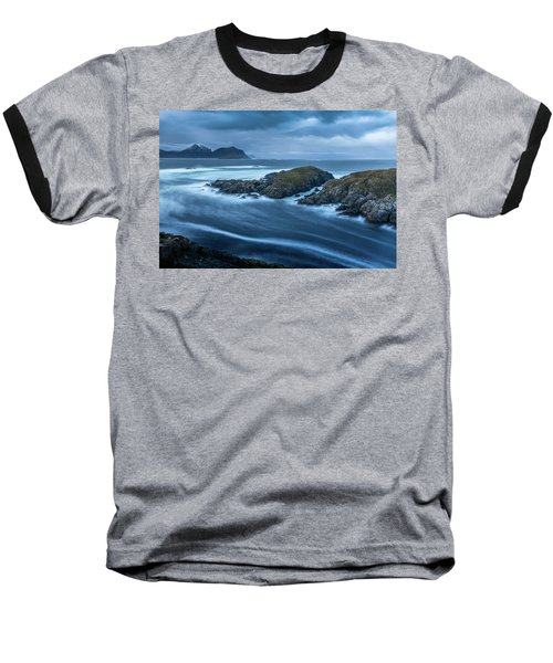 Water Flow At Stormy Sea Baseball T-Shirt