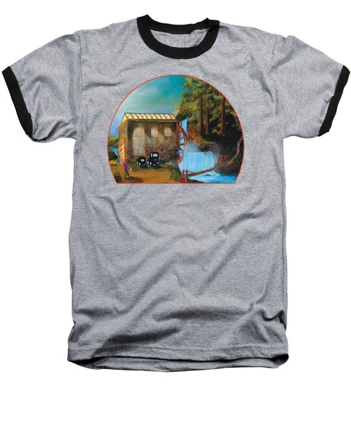 Water Wheel Overlay Baseball T-Shirt