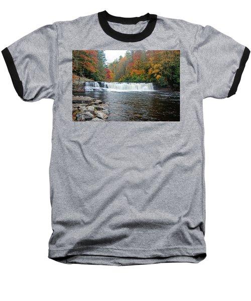 Waterfall In Autumn Baseball T-Shirt