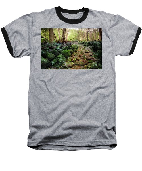 Waterfall Path Baseball T-Shirt