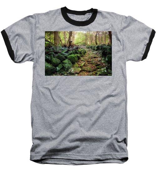 Waterfall Path Baseball T-Shirt